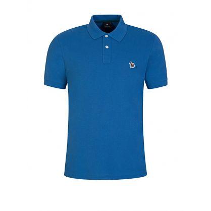 Blue Zebra Polo Shirt