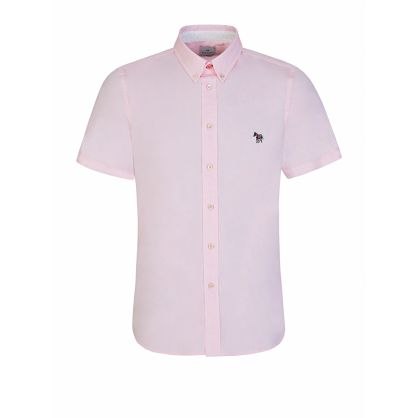 Pink Tailored-Fit Short Sleeve Shirt