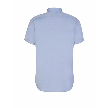 Blue Tailored-Fit Short Sleeve Shirt
