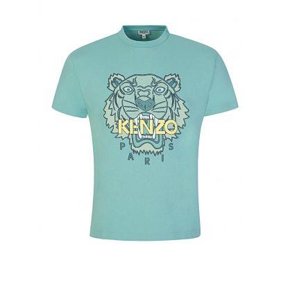 Green Silicone Scuba Tiger T-Shirt