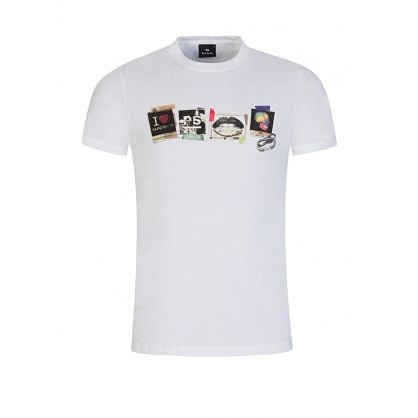 White Slim Fit Sasquatch Print T-Shirt
