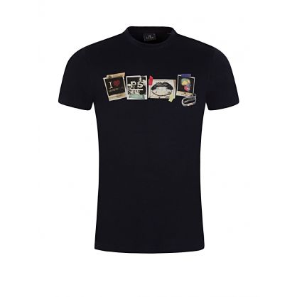 Navy Slim Fit Sasquatch Print T-Shirt