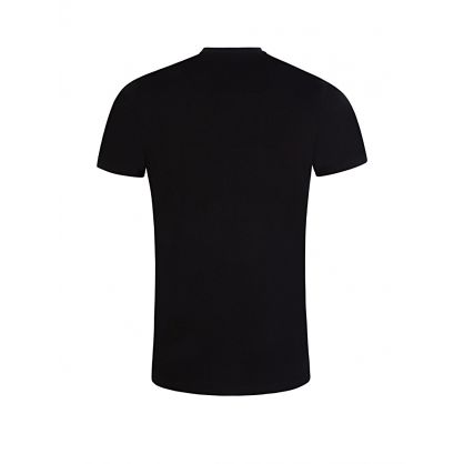 Black Slim-Fit Circle Logo T-Shirt
