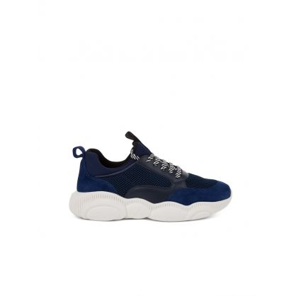 Blue Wide Fit Teddy Shoe Trainers