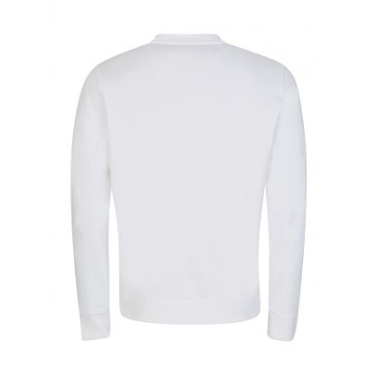 White Cotton Logo Sweatshirt