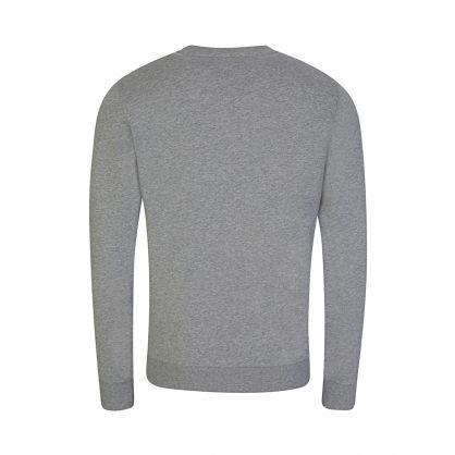 Grey Cotton Logo Sweatshirt