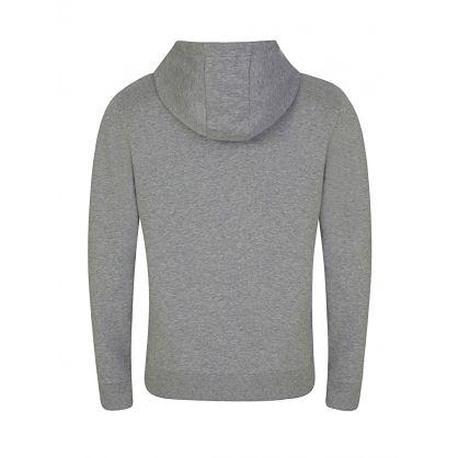 Grey Cotton Logo Hoodie