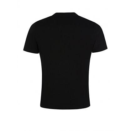 Black Cotton Front Logo T-Shirt
