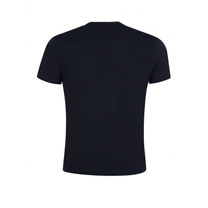 Navy Cotton Front Logo T-Shirt