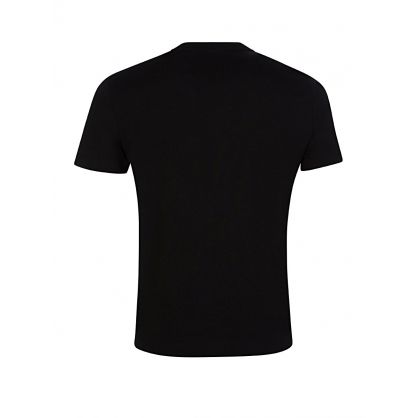 Black Cotton Chest Logo T-Shirt