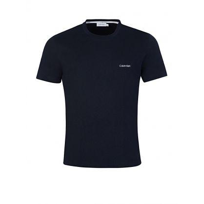 Navy Cotton Chest Logo T-Shirt