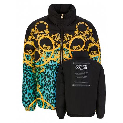 Black Leo Chain Reversible Jacket