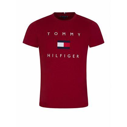 Burgundy Flag Logo T-Shirt