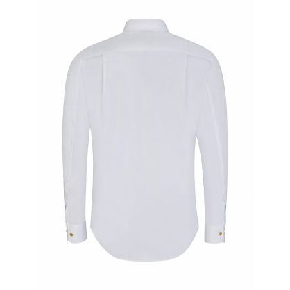 White Slim-Fit Organic Popeline Shirt
