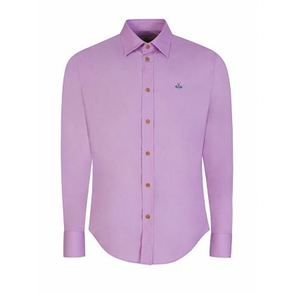 Pink Slim-Fit Organic Poplin Shirt