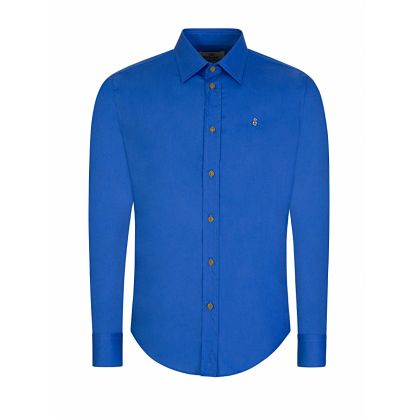 Blue Slim-Fit Organic Poplin Shirt
