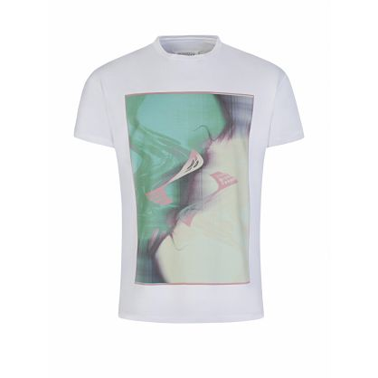 White Distorted Logo T-Shirt
