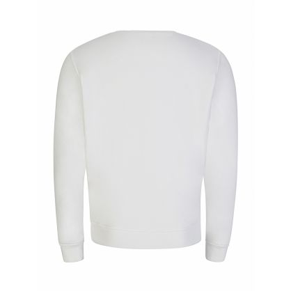 Ecru Embroidered Logo Sweatshirt