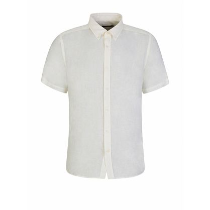 Ecru Slim Fit Fredrik Linen Shirt
