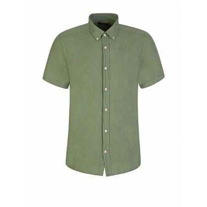 Green Slim Fit Fredrik Linen Shirt