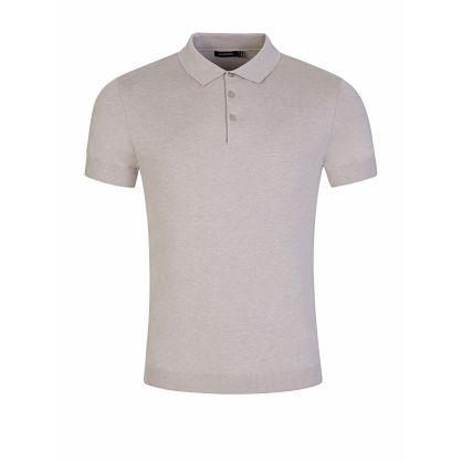 Beige Ridge Cotton Polo Shirt