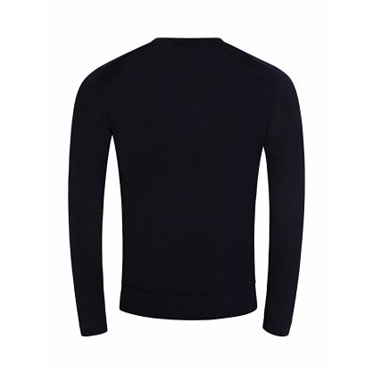 J.Lindeberg Navy Newman Perfect Linen Sweatshirt