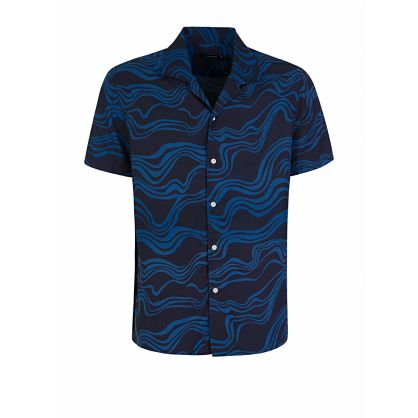 Navy Axel Resort Short Sleeve Shirt
