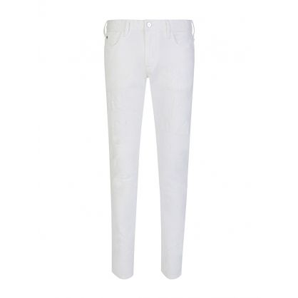 White J06 Slim Fit Denim Jeans
