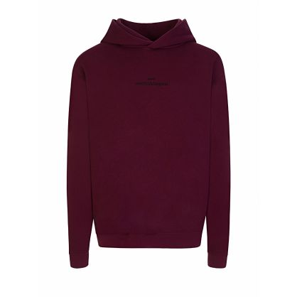 Burgundy Embroidered Logo Hoodie