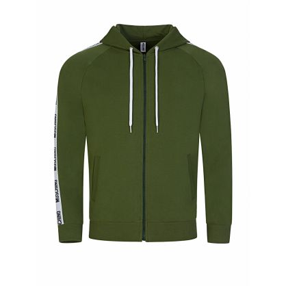 Green Tape Logo Zip-Through Hoodie