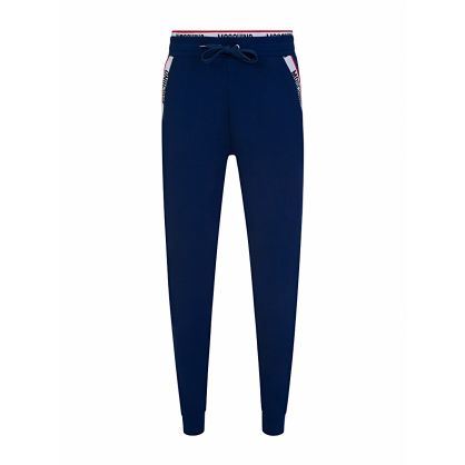 Navy Tape Logo Sweatpants