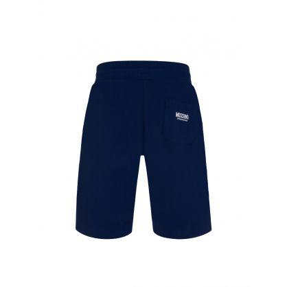 Navy Tape Logo Shorts