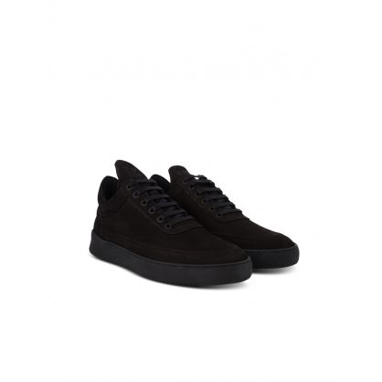 Black Low-Top Ripple Trainers