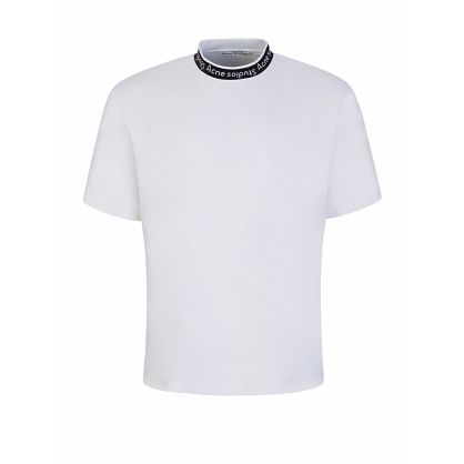 White Logo Collar T-Shirt