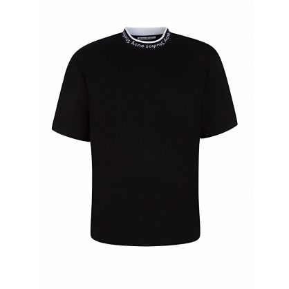 Black Logo Collar T-Shirt