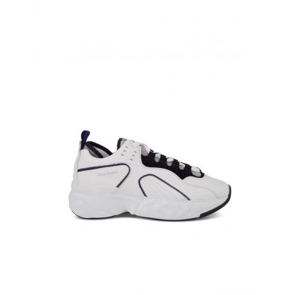 White Leather Rockaway Trainers