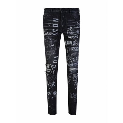 Black Rock Print ICON Cool Guy Jeans