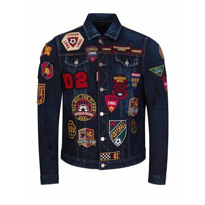 Blue Multi-Patch Dan Denim Jacket