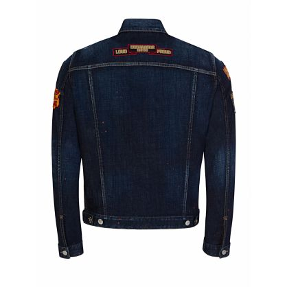 Blue Multi-Patch Dan Denim Jacket