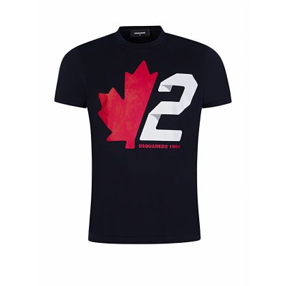 Black Maple-2 Logo Print T-Shirt