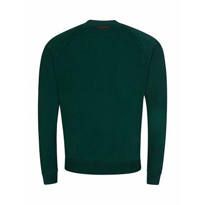 Green D2 Print Logo Sweatshirt
