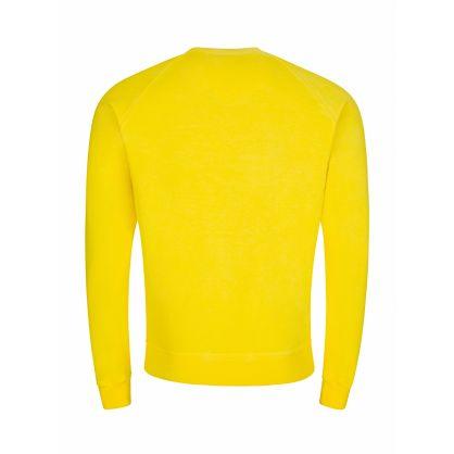 Yellow Logo Print Sweatshirt
