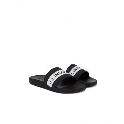 J.Lindeberg Black Casual Summer Slides