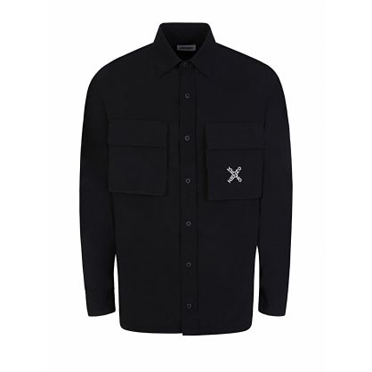 Black Cross Logo Shirt