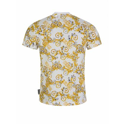 White Slim-Fit Baroque T-Shirt