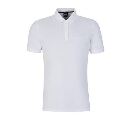 White Fine Piqué Polo Shirt