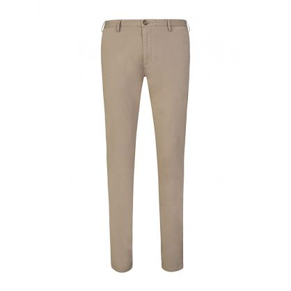 Beige Slim Fit Rice Trousers