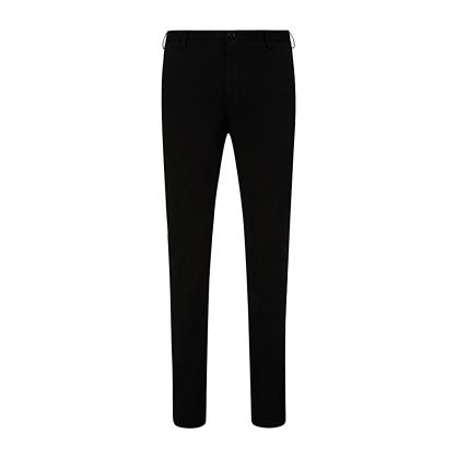 Black Slim Fit Rice Trousers