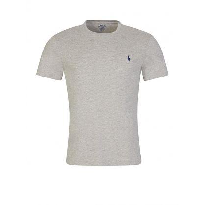 Grey Custom Slim Fit Cotton T-Shirt