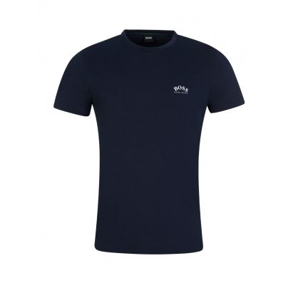 Navy Curved Logo T-Shirt
